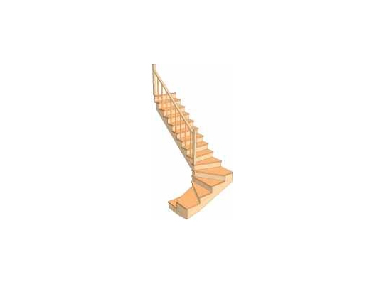 С разворотом на 180 градусов с забежными ступенями 3.1.1.0