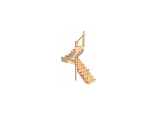 С разворотом на 180 градусов с забежными ступенями 3.1.1.5