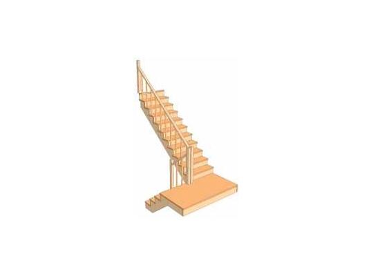 С разворотом на 180 градусов с забежными ступенями 3.2.3