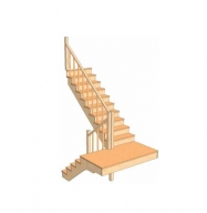 С разворотом на 180 градусов с забежными ступенями 3.2.4